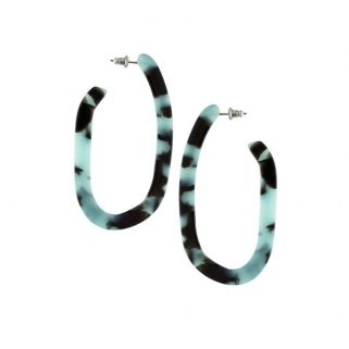 Margot blue tortoise earrings