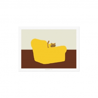 Yellow armchair postcard