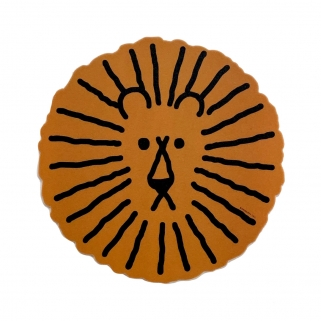 Brown lion mouse pad