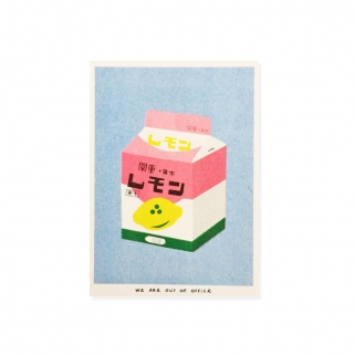 Box of lemon milk risoprint