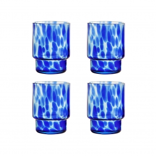 Set 4 glasses Tortoise blue
