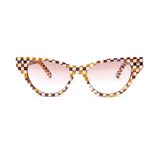 Tortoise checker sunglasses