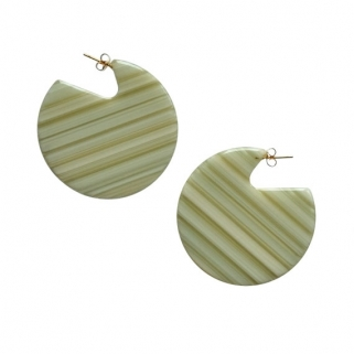 Clare rhubarb earrings
