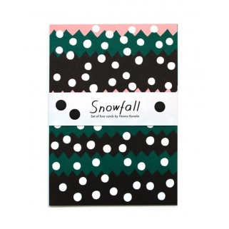 Snowfall postcards set